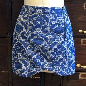 Zara Brocade Fabric Skirt - M